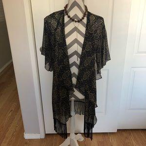 LulaRoe Fringe Kimono Wrap